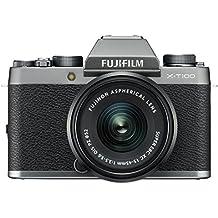 Fujifilm X-T100 24.2MP Mirrorless Camera (Silver) with XC15-45mm Lens Kit