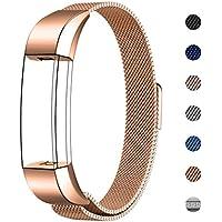 """Swees für Fitbit Alta HR und Alta Milanese Edelstahl Armband(5.5""""~8.6"""")"""