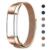 Swees für Fitbit Alta HR und Alta Milanese Edelstahl Armband(5.5