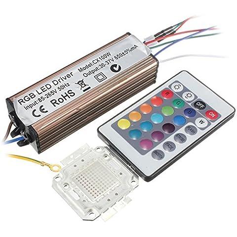 farwind, 100W RGB Chip lampadina Bead impermeabile LED Driver Alimentazione con telecomando