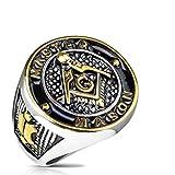 Tapsi´s Coolbodyart Siegelring Edelstahl Masonic Freimaurer Breite 23mm 66(21)