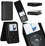 Zaoma Flip Case Cover Screen Protector for iPod Classic Style 80G 120G - Black