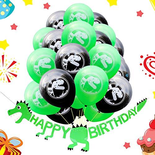 Bestzy palloncini dinosauri compleanno, 21 pezzi dinosauri palloncini buon compleanno banner lattice palloncini compleanno 10 pollici per decorazione della festa di compleanno