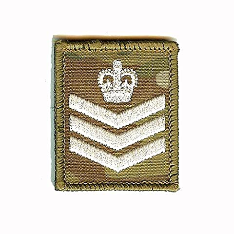 CL Distribution Ivoire sur camouflage/MTP Badge/patch Velcro grade - Sergent
