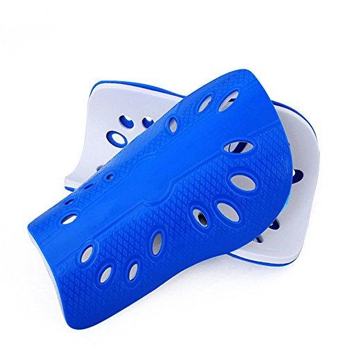 Senston New Geschwindigkeit Schutz Fußball Shin Pads für Kinder Jugendliche Erwachsene Mittlere Größe Blaue Farbe -