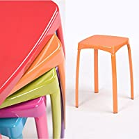 Utility Hocker bunt Home Wohnzimmer Metall Hocker Robust Schritt Hocker klein Sessel stapelbar Set von 6 Orange