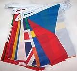 GUIRLANDE 8 mètres 28 DRAPEAUX 28 PAYS DE L'UNION EUROPÉENNE 21x15 cm - DRAPEAU EUROPÉEN - EUROPE – UE 15 x 21 cm - AZ FLAG
