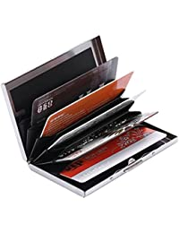 Menzy Rfid Blocking Card Holder Wallet, Metal Credit Card Case For Men And Women