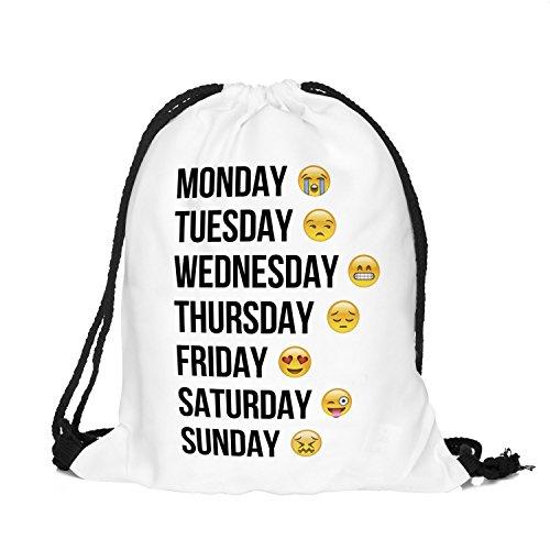 Imagen de youth designz  bolsa/  a la moda, diferentes colores y diseños, color emoji week weiß, tamaño talla única