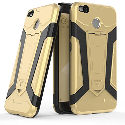 Custodia XiaoMi Mi Max 2 , Gray Plaid Rugged Dual Layer Hybrid Full-body Protective Back Shockproof Armour Phone Case with Kickstand Function per XiaoMi Mi Max 2 - Nero Oro