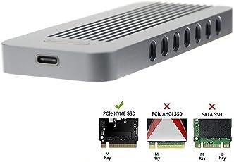 Adwit USB 3.1 UASP a PCIe NVMe M.2 2230/2242/2260/2280 Adattatore SSD ad alte prestazioni, custodia esterna per WD Black, Samsung 960 970 EVO PRO e altro, grigio scuro