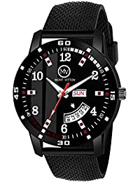 MontVitton Day and Date Functioning Black Quartz Watch for Boys - (LS2803)