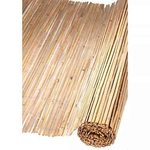Canisse en bambous fendus naturels H1xL5m