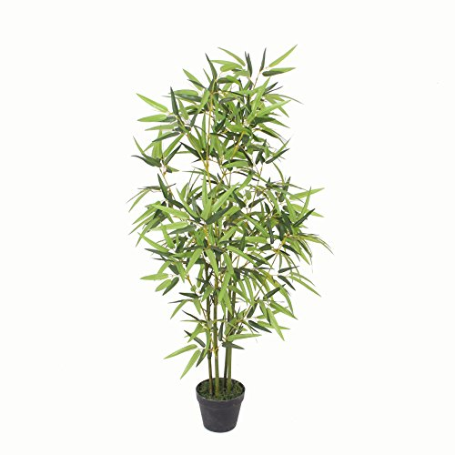 PASAMO 07054 Bambus, Echtholzstamm, Kunstpflanze 135cm