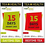 Farganic 15 Days Weight loss green tea. 100% Natural and Herbal. Day Time tea, Bed Time Tea. Slimming tea. 30 Tea Bags ( 15+15). Weight loss. Detox tea. Slimming. it is also keto capsules / tablets for weight loss friendly