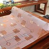 XJ&DD PVC Placa De Cristal Manteles,Impermeable Protección De Escaldadura Prueba De Aceite Estera De Tabla Libre De Lavado,para Mesa Decoración De Muebles-A 80x140cm(31x55inch)