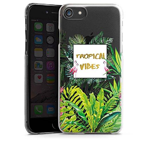 Apple iPhone X Silikon Hülle Case Schutzhülle Muster ohne Hintergrund Flamingo Dschungel Hard Case transparent