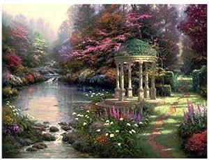 Plaid Jardin Kinkade Thomas De Prière Peinture Par Numéros