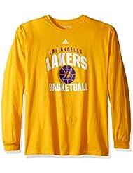 "Los Angeles Lakers Adidas NBA ""Rep Big"" Men's Long Sleeve T-Shirt"