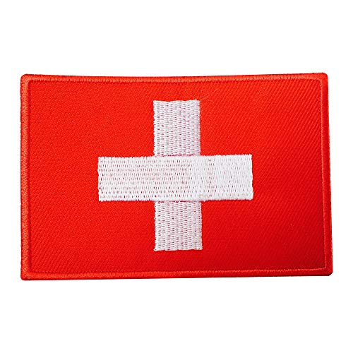 Echt Empire Embroidered Iron on Swizerland Flagge Patch Nähen auf Badge Aufnäher Jacke T Shirts Hat Patch Schweizer Flagge