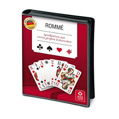 ASS Rommé mit extra großen Eckzeichen (Sehbehinderte Spielen Karten)