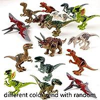 Voiks Dinosaurios de Juguete, Dinosaurios Bloques de Construcción, Juguetes Niños Coleccionable Cumpleaños Regalo Juguete,Entrega aleatoria