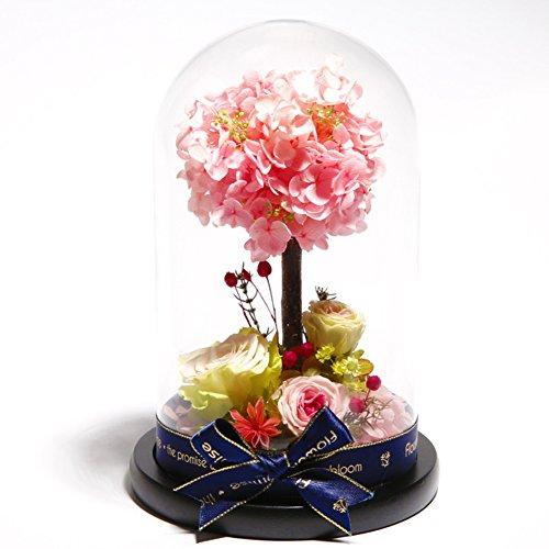 Fleur éternelle,Boîte de couverture en verre Ornements de rose Le jour de noël Anniversaire Ornements-F