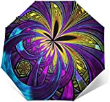 EW-OL Baldacchino ventilato Antivento Vicino, Moderna Cravatta colorante erbaccia Arte Astratta