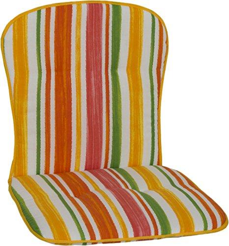 Beo Gelb weiß orange rot grün gestreift Monoblock Polster für niedrige Stapelstühle