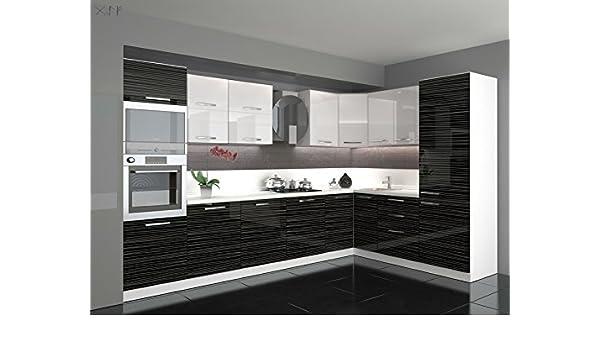 Küche L Form Hochglanz 3 40 M X 2 20 M Mit E Geräten Amazon