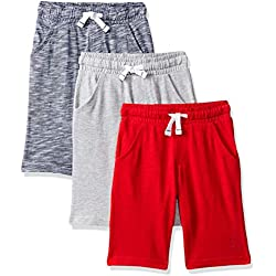 Mothercare Boy's Striped, Grey and Red Shorts - 3 Pack Multicolour (Brights Multi 281), 18-24 Months (Size:92CM)