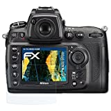 atFoliX Panzerfolie für Nikon D700 Folie - 3er Set FX-Shock-Clear stoßabsorbierende ultraklare Displayschutzfolie