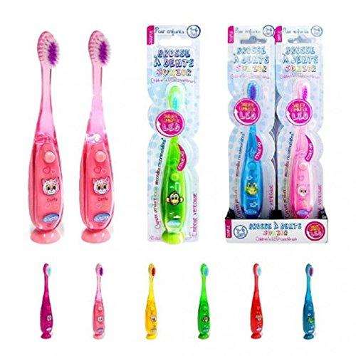CMP Leuchtende Zahnbürste für Kinder, zur Zahnpflege, 15 cm