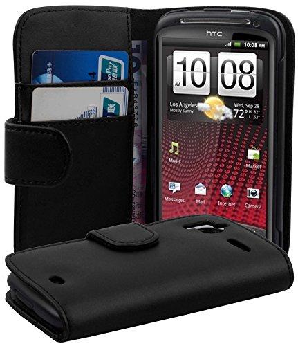 Cadorabo - Book Style Hülle für HTC SENSATION & Senstation XE - Case Cover Schutzhülle Etui Tasche mit Kartenfach in OXID-SCHWARZ