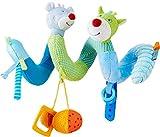 Haba 303881 - Mobile-Spirale Maus Merle & Drache Duri | Spieltrainer aus Stoff mit spannenden Spieleffekten | Baby-Spielzeug aus der Serie Maus Merle und Drache Duri