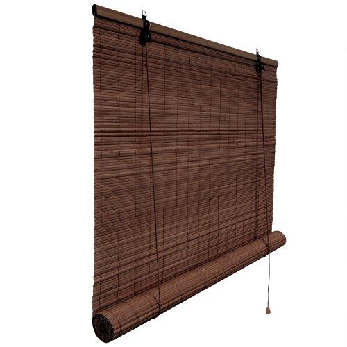 Victoria m tenda a rullo in bambù per interni - cortina di bambù 80 x 160 cm, marrone scuro - tenda di bambù
