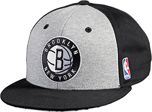 adidas Herren Kappe NBA Snap-Back Nets, Black/White/Medium Grey Heather, One size, F77534
