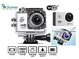 Starmo Helmkamera / Action-Kamera, HD-Auflösung bis 1080p, wasserdicht, Weitwinkelobjektiv, HDMI- und USB-Anschluss, inkl. Zubehör, silberfarben / Schwarz, silber