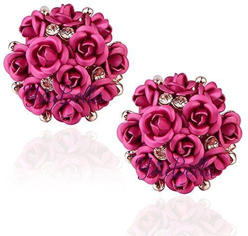 YouBella Fashion Jewellery Summer Special Stylish Rose Shape Fancy Party Wear Earrings...