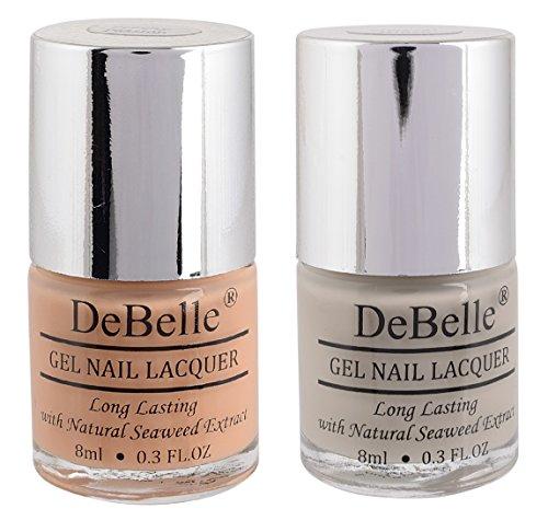 DeBelle Natural Gel Nail Polish Combo of 2 (Nude,Peach)