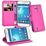 Cadorabo Hülle für Samsung Galaxy S4 Active - Hülle in Cherry PINK – Handyhülle mit Kartenfach und Standfunktion - Case Cover Schutzhülle Etui Tasche Book Klapp Style