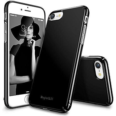 Funda iPhone 7, Ringke [SLIM] Ajuste en el Mango Slender [Tailored Recortes] Ultra-Delgada de Fluido Borde Curvado Mejorar la Piel Funda de la Caja Protectora Lightweigt Superior de Revestimiento Dura de la PC para Apple iPhone 7 - Gloss Black