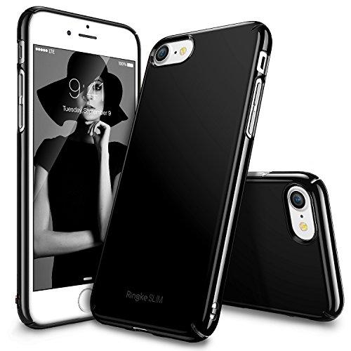 Custodia iPhone 7, Ringke [Slim] Snug-Fit Snella [Tailored Ritagli] copertura della pelle ultra-sottile Scratch Resistant doppio rivestimento leggero Custodia protettiva superiore del rivestimento dura del PC per Apple iPhone 7 - Gloss