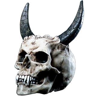 Markus Mayer Skull Devil's Skull with Horns Devil Figure