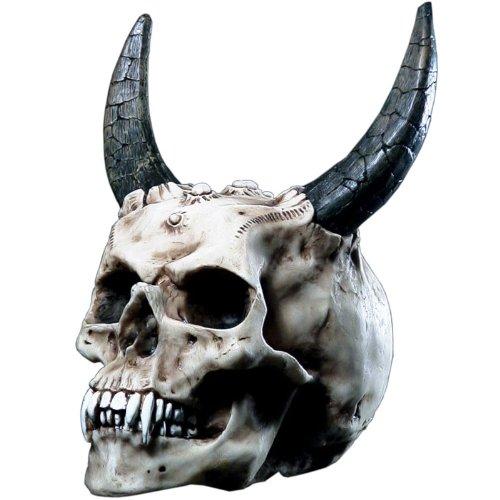 Markus Mayer Totenkopf Teufelsschädel mit Hörnern Schädel Teufel Figur