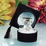 Safri Regalos de graduación universitaria, diseño de búho de Cristal en Color Negro