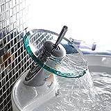 TD baño cascada Platillos mezclador lavabo grifo cromo borde pulido Cristal grifo con tubo de entrada de agua