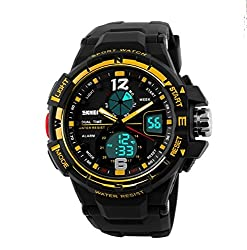 SKMEI Dual Time Multifunctional Analog-Digital Wrist Watch