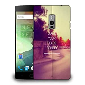 Snoogg Leave Your Fears Behind Solid Snap On - Back Cover All Around Protecti...