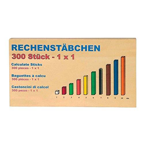 Rechenstäbchen, Konzentrationsspiel / Zahlenspiel aus Holz, Schulbedarf zum Erlernen des kleinen 1x1, spielerische Mathe-Lernhilfe, Lernspiel ab 4 Jahre